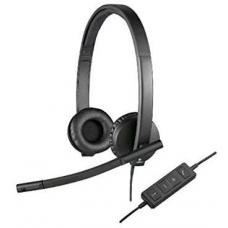 Logitech H570E Stereo Headset Light Weight Adjustable Headphone with Microphone USB In-line audio controls Noise-cancelling 981-000574