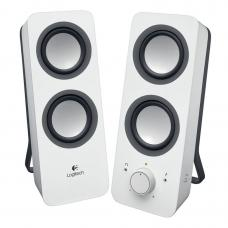 Logitech Z200 Multimedia Speakers Snow White 10W RMS 3.5mm Jack Volume Bass Power Control Node 2yrs Wty 980-000851