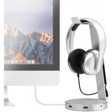 mbeat 'ZACK' Aluminium Headphone Stand with 3.0 Hub and Audio - 4xUSB 3.0,1x 3.5mm Audio Jack & Mic/Data Transfer 5Ghps MB-HPS-01S