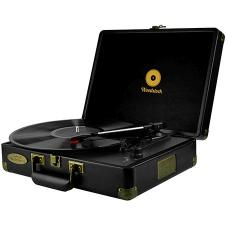 mbeat Woodstock Retro Turntable Player - Black MB-TR89BLK