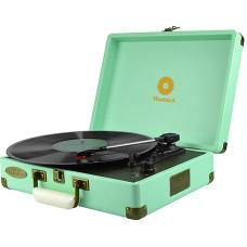 mbeat Woodstock Retro Turntable Player Tiffany Blue MB-TR89TBL