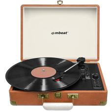 mbeat Woodstock Retro Turntable Recorder with Bluetooth & USB Direct Recording MB-USBTR128
