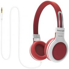 Promate 'Impulse' Kids safe Universal On Ear Wired Headset - Red IMPULSE.RED