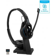 EPOS | Sennheiser IMPACT MB Pro2 UC ML Bluetooth 4.0 Headset with Desk USB Stand, Binaural, Noise Cancelling Mic, Upto 15 Hours Talk, Teams Certified 1000567