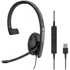 EPOS | Sennheiser ADAPT SC130 USB Wired monaural USB headset. Skype for Business certified and UC optimized. 508314