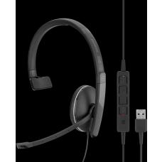 EPOS | Sennheiser ADAPT SC135USB, Single Sided 3.5mm Headset w/Detachable USB Cable with in-line Call Control, Leatherette Ear Pads, 2 Year Warranty 508316