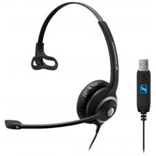 EPOS | Sennheiser SC230 USB Wide Band Monaural headset with Noise Cancelling mic - built-in USB interface, no call control 1000578