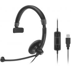 EPOS | Sennheiser SC40 USB Monaural Wideband Office headset, integrated call control, USB connect, Activegard protection, large ear pad, noise cancel 506500