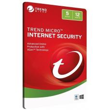 Trend Micro Internet Security 5D 12MTH Retail Digital Download Card 3742719