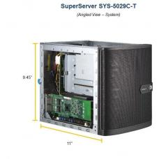 Supermicro Mini Tower SuperServer, 5029C-T Barebone, Single E-2100 Socket, 4 x3.5' HDD HS, 2 x DIMM C242, M.2, Dual Gbe,, 250w PSU 5029C-T