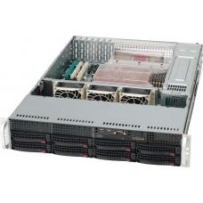 Supermicro 2U 1+1 700W Rack 8x 3.5' Hswap/eATX/DVD Option SC825TQ-R700LPB