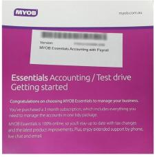 MYOB Essentials Accounting with Payroll 3 Months Test Drive LVPAY-90TD-RET-AU-ESSACCPAY-TD