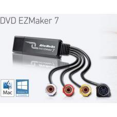 AVerMedia C039 EZMaker 7, Standard Definition USB Video Capture Card, Analog to Digital Recorder, RCA Composite, VHS to DVD, S-Video, Cyberlink 61C0390000AL