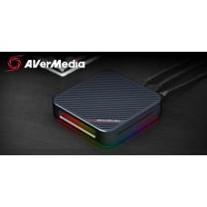 AVerMedia GC555 LIVE Gamer BOLT video Capture Box 4Kp60 HDR + FHD 240FPS RGB Lighting Effect, Thunderbolt 3 interface, HDMI 2.0, 3.5 Audio. 7.1 Passth 61GC555000A9