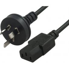 Astrotek AU Power Cable 2m - Male Wall 240v PC to Power Socket 3pin to ICE 320-C13 Black AT-IECM-18M