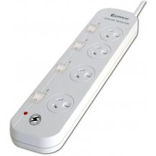 Sansai 4-Way Power Board (421SW) with Individual Switches and Surge Protection PAD-421SW