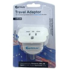 Sansai Travel Adapter for 240V Equipment from Britain/ USA/ Europe/ Japan/ China/ Hongkong/ Singapore/ Korea STV-8N
