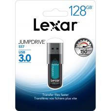 Lexar JumpDrive S57 128GB USB3 Flash Drive - Up to 150MB/s Transfer/USB 3.0/Compatible with MAC and PC devices LJDS57-128ABGN