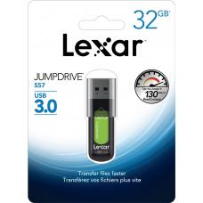 Lexar JumpDrive S57 32GB USB3 Flash Drive - Upto 130MB/s LJDS57-32GABAP