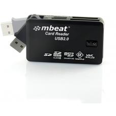 mbeat USB 2.0 All In One Card Reader - Supports SD/SDHC/CF/MS/XD/MicroSD /MicroSD HC / SONY M2 without adaptor. USB-MCR01