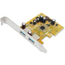 Sunix USB2312 USB 3.1 Enhanced SuperSpeed Dual ports PCI Express Host Card with Type-A Receptacle USB2312
