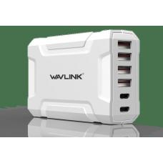 Wavlink USB3.0 with Dual Type-C 6 ports 60W Rugged Smart USB Charger UH1062PC2