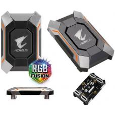 Gigabyte GC-A2WAYSLI RGB AORUS SLI HB bridge 4K+ RGB 8cm 1 slot spacing for nVidia GTX 10 series graphic cards Dual Link SLI HB GC-A2WAYSLI RGB