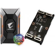 Gigabyte GC-A2WAYSLIL RGB Aorus SLI HB bridge RGB 4K+ 8cm 2 slot spacing for nVidia GTX 10 series graphic cards Dual Link SLI HB ~GC-A2WAYSLI RGB GC-A2WAYSLIL RGB