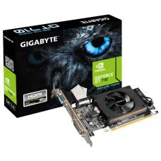 Gigabyte nVidia GeForce GT 710 2GB DDR3 PCIe Video Card 4K 3xDisplays HDMI DVI VGA Low Profile Fan GV-N710D3-2GL