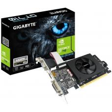 Gigabyte nVidia Geforce GT 710 2GB GDDR5 PCIe Video Card 4K 3xDisplays HDMI DVI D-SUB Low Profile Fan 954MHz ~VCG-N710D5SL-2GL GV-N710D5SL-2GL GV-N710D5-2GIL