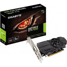 Gigabyte nVidia GeForce GTX 1050 OC 2GB Low Profile PCIe Video Card 8K @ 60Hz DP 2xHDMI DVI 4xDisplays 1506/1468 MHz GV-N1050OC-2GL