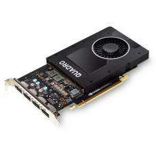 Leadtek nVidia Quadro P2000 PCIe Workstation Card 5GB DDR5 4xDP 1.4 4x5120x2880@60Hz 160-Bit 140GB/s 1024 Cuda Core Single Slot ~M2000 P2000