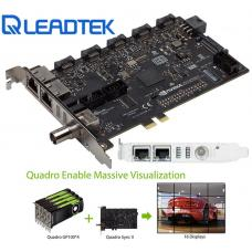 Leadtek nVidia Quadro SYNC II Card to connects up to 32 4K Synchronized Displays for GP100 P4000 P5000 P6000 Project Overlay & Stereoscopic Display SYNC2