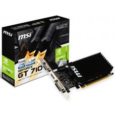 MSI nVidia Geforce GT 710 2GB LP Low Profile VGA CARD GDDR3 2560x1600 1xHDMI 1xDVI PCIE2.0x16 954 MHz Core GT 710 2GD3H LP