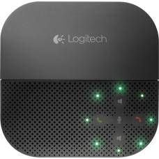 Logitech P710e Mobile Speakerphone Cordless Portable Conference Hands Free USB Bluetooth NFC for PC Smartphone Tablet Mobile Devices 15 Hrs Talk Time 980-000744