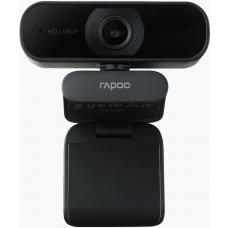 RAPOO C260 Webcam FHD 1080P/HD720P, USB 2.0 Compatible Win7/8/10, Mac OS X 10.6 or above, Chrome OS and Android V5.0 or above - Ideal for TEAMS, Zoom C260