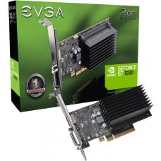 EVGA GeForce GT1030 Graphics Card, 2GB GDDR4, PCIE, Low Profile, Passive Cooling, DVI-D, HDMI, Max 2 Ouputs 02G-P4-6232-KR