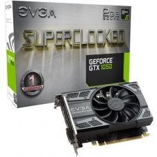 EVGA GeForce GTX1050 SC Gracphics Card, 2GB GDDR5, PCIE, Full Height, ACX 2.0 (Single Fan), DVD-D, DP, HDMI, Max 3 Outputs 02G-P4-6152-KR