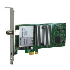 HauppaugeTV QuadHD Four HDTV Tuners in one PCIe card with Remote for Windows Watch or record up to four TV channels at a time! Windows 7/8/10 QUADHD