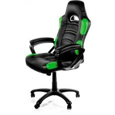 Arozzi Black & Green Enzo Adjustable Ergonomic Motorsports Inspired Desk Chair ARO-ENZO-GN