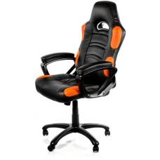Arozzi Black & Orange Enzo Adjustable Ergonomic Motorsports Inspired Desk Chair ARO-ENZO-OR