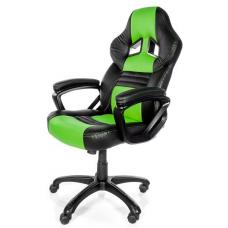 Arozzi Black & Green Monza Adjustable Ergonomic Motorsports Inspired Desk Chair ARO-MONZA-GN