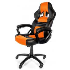 Arozzi Black & Orange Monza Adjustable Ergonomic Motorsports Inspired Desk Chair ARO-MONZA-OR