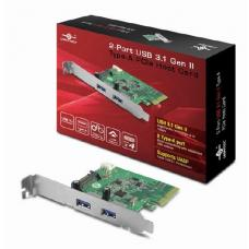 Vantec 2 Port USB 3.1 Gen II Type-A PCIE Host Card VAN-UGT-PC370A