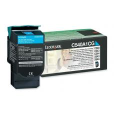 Lexmark C540A1CG C54x/X54x Cyan Return Program Toner Cartridge, 1K pages
