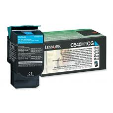 Lexmark C540H1CG C54x/X54x Cyan High Yield Return Program Toner Cartridge, 2K pages