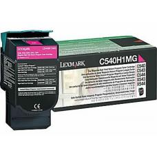 Lexmark C540H1MG C54x/X54x Magenta High Yield Return Program Toner Cartridge, 2K pages