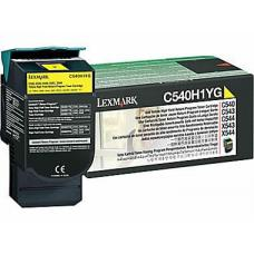 Lexmark C540H1YG C54x/X54x Yellow High Yield Return Program Toner Cartridge, 2K pages