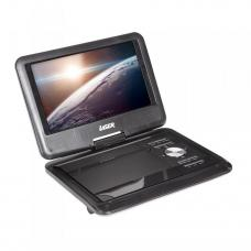 "Laser DVD-PT-7B Portable DVD Player 7"" wide screen with Bonus Pack, 1024x600pixels, 180 Degree swivel, remote control,"