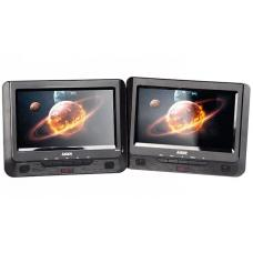 "Laser DVD-PT9-DUALB DVD Player Dual 9"" in car with Bonus Pack"